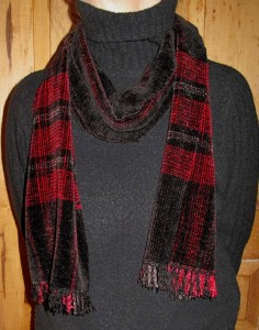 Rayon Chenille scarf.