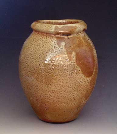 Shino Glazed Wood Fired Vase, WF-23