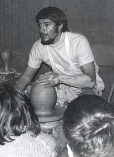 Robert Compton throwing demonstration, c. 1971