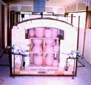 Loaded Kiln ready to fire.