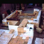 Construction of the Two Chambered Kiln.