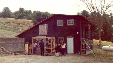 Robert Compton's pottery studio in 1975.