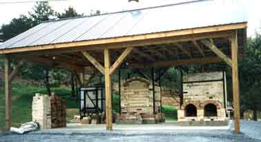 Kilns at the pottery, 1994-2000.