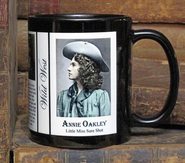 """Annie Oakley """"Wild West"""" History Mug"""