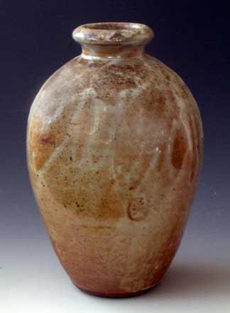 Shino Glazed, Wood Fired Vase, OLS-WF-1