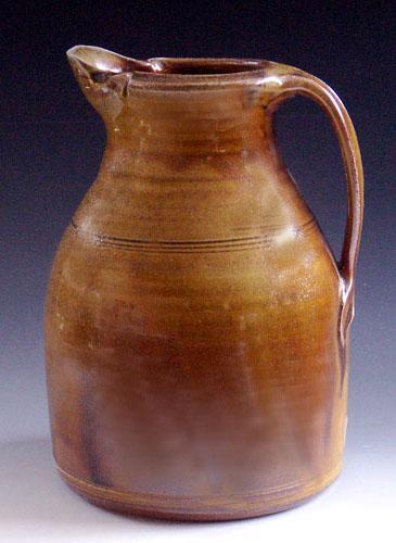 Korean Celadon Wood Fired & Salt Glazed Pitcher, OLS-WF-92